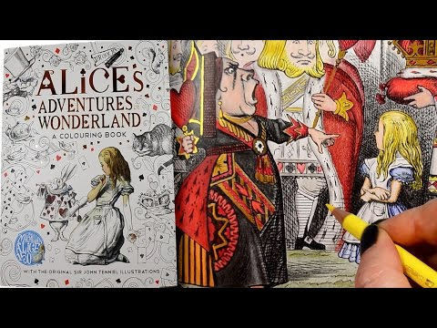 Colouring Book | Alices Adventures in Wonderland | Polychrom