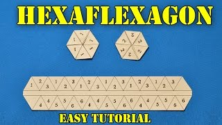 How to make Hexaflexagon (Flexagon) origami easy tutorial - more detailed video tutorial | ORGANZA