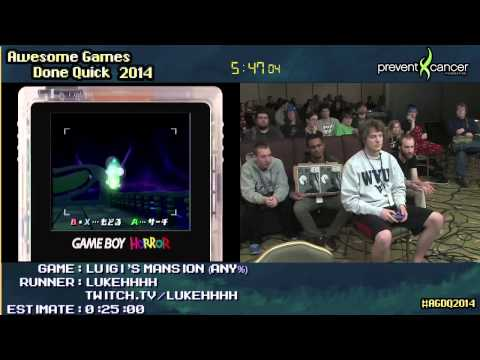 Luigi's Mansion :: SPEED RUN (0:14:23) (Glitched) [GCN] by lukehhhh #AGDQ 2014