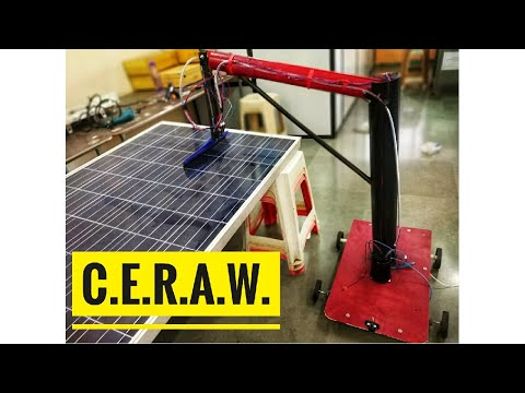 C.E.R.A.W.    Cost-Effective Robotic Arm Wiper    Solar panel cleaning system