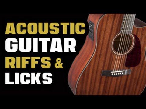 Acoustic Guitar Riffs Licks Youtube