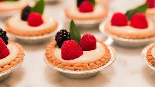 Mini Fruit Tarts - Vanilla Custard w/ Berries