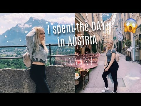 I spent a DAY in Salzburg, AUSTRIA! The Alps🗻 + where Sound of Music was filmed😍 TRAVEL VLOG