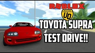 *NEW* Toyota Supra TEST DRIVE REVIEW! | Ultimate Driving (Roblox)