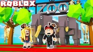 UCIEKAMY Z ZOO W ROBLOX! (Roblox Zoo Obby) - Vito i Bella