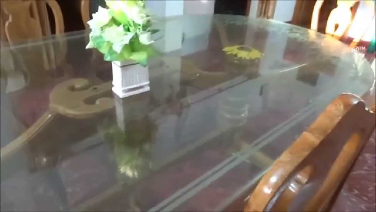 Teak wooden dining table Kayu Pinterest Dining Table In Teakwood With Glass On Top Youtube