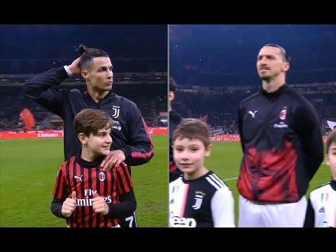 ZLATAN Vs CRISTIANO   Milan 1-1 Juventus   2019-20 Coppa Italia Semifinale Andata