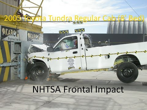 2000-2006 Toyota Tundra Regular Cab (8' Bed) NHTSA Frontal Impact
