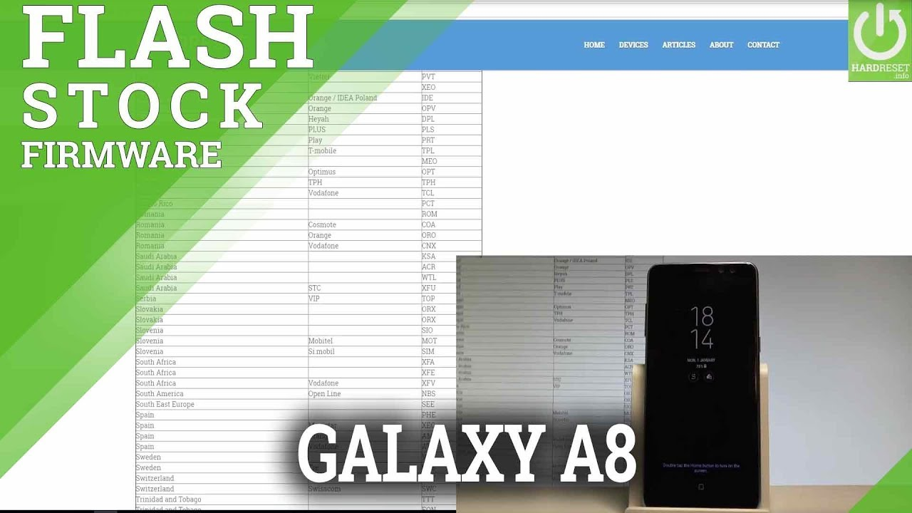 How to Flash SAMSUNG Galaxy A8 (2018) - Upgrade Android |HardReset info