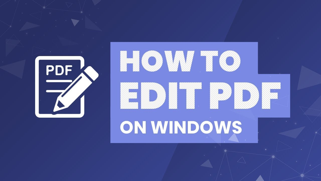 How to Edit PDF on Windows 10 - Tutorial with Alex