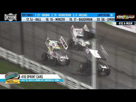 Knoxville Raceway 410 Highlights #2 - July 13, 2019