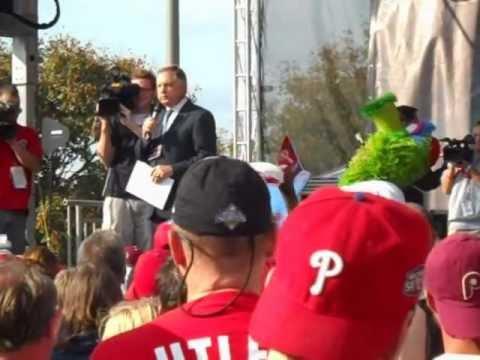 Dan Baker Announcing the Phillies Lineup (2011 NLDS)
