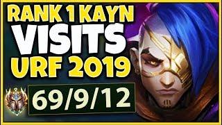 *WORLD RECORD* 69 KILLS IN 15 MINUTES (#1 KAYN WORLD VS. URF 2019) - League of Legends