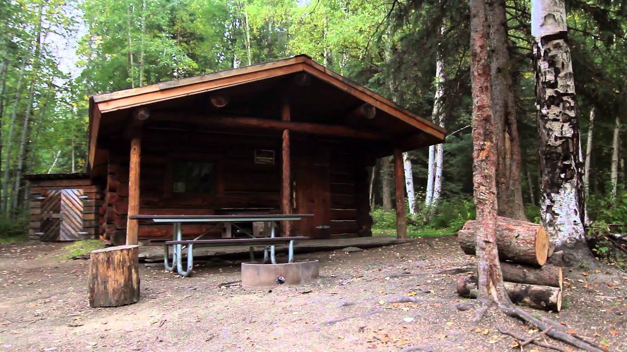 North Fork Cabin  Chena River State Recreation Area  YouTube