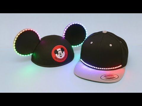 3D Hangouts – BLE NeoPixel Hats And Mickey Ears