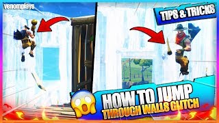 How To Jump Through Walls On Fortnite! - Fortnite Battle Royale 2018 Glitches