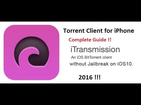 How to install iTransmission(Torrent Client) IOS10 [NoJailbreak] 2016!!  using Windows/Mac