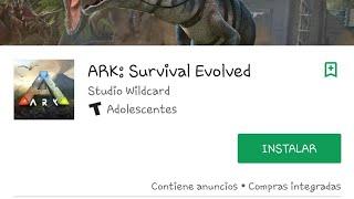 YA SALIO ARK SURVIRVAL EVOLVED MOBILE en android.  LINK DE DESCARGA DE LA PLAY STORE . JANCOSTAR 123