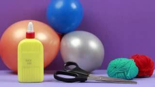 как сделать шар из ниток Лайфхак  Хендмейд