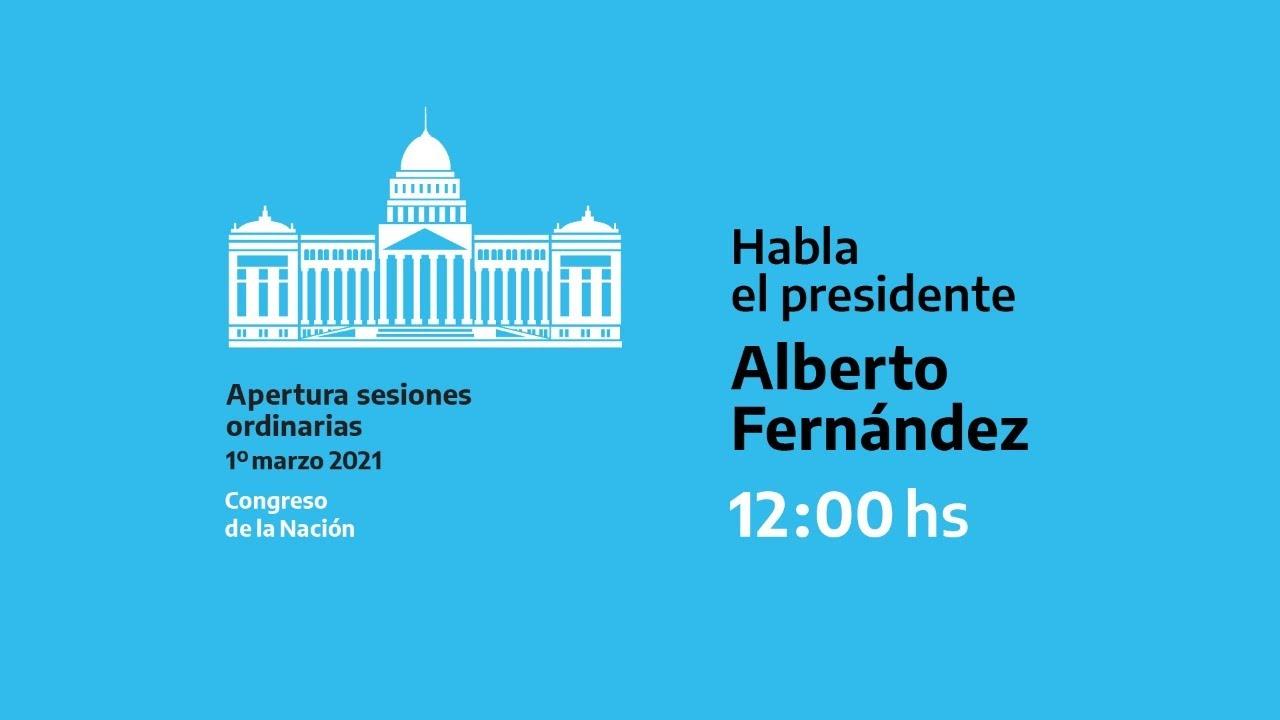 EN VIVO | El presidente encabeza la apertura del 139° período de sesiones ordinarias del Congreso
