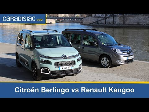 Comparatif statique  - Citroën Berlingo (2018) vs Renault Kangoo : la revanche des ludospaces.