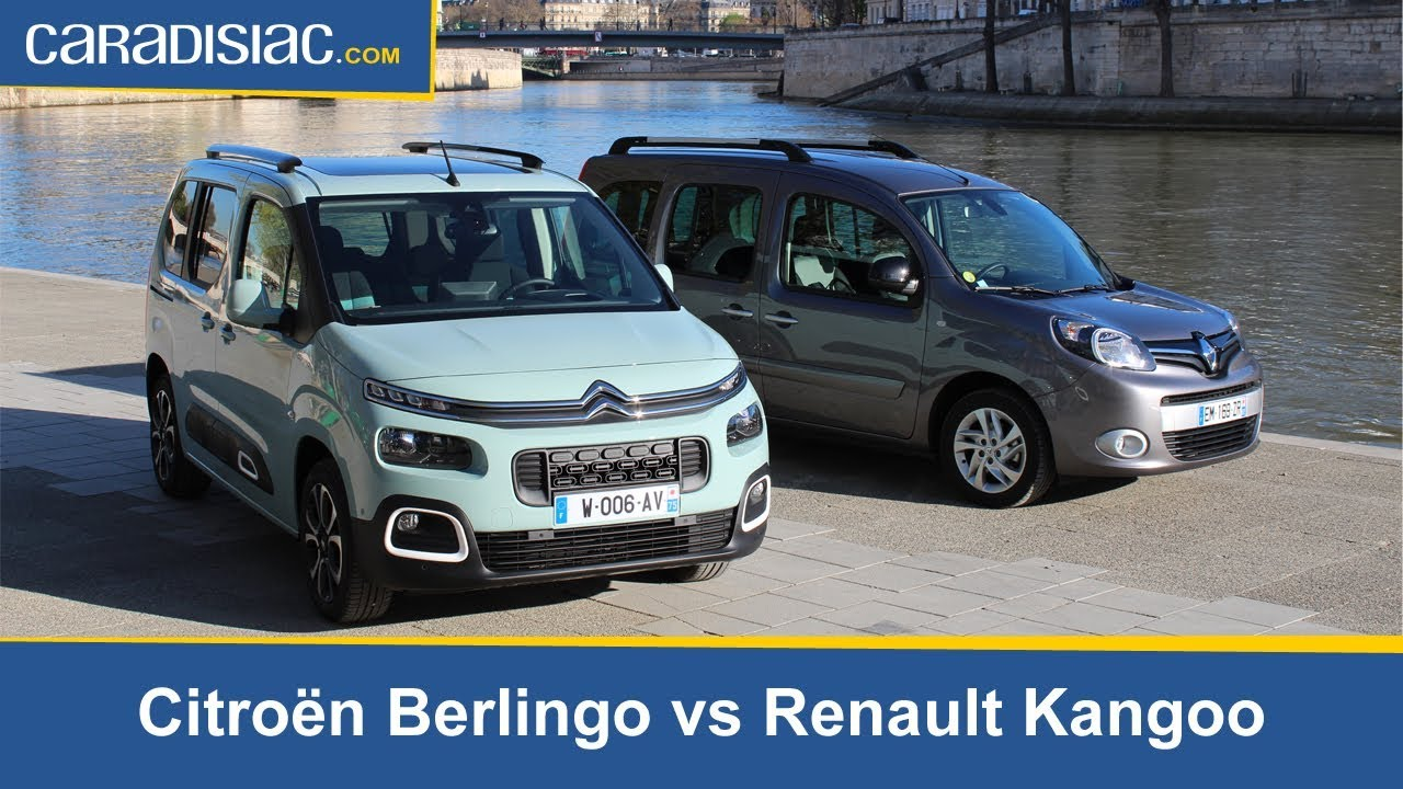 comparatif statique citro n berlingo 2018 vs renault kangoo la revanche des ludospaces. Black Bedroom Furniture Sets. Home Design Ideas