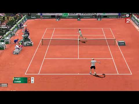 Courier vs Forget  | F Roland Garros 1991 | Ép.39 Légendes Tennis Elbow 2013
