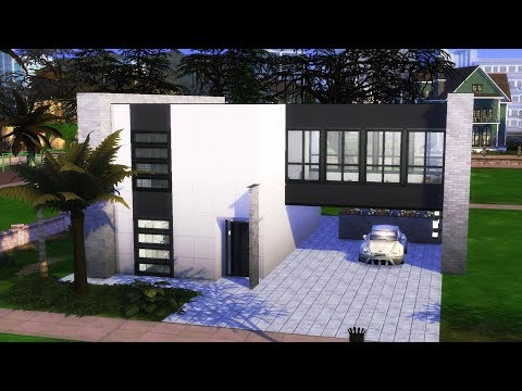 The Sims 4 - Modern Home | Speed Build | Modern House Building thumbnail