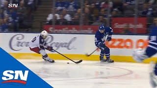 Mitch Marner's Turnover Gives Blue Jackets A Shorthanded Goal