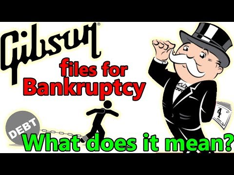 GIBSON's Bankruptcy.  What does it really mean for Gibson?