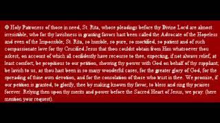 PRAYER TO SAINT RITA.