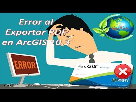 Error Al Exportar PDF En ArcGIS 10.3