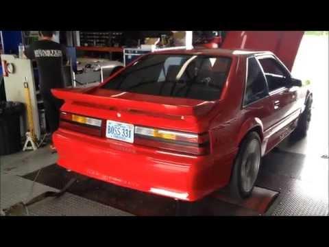 1991 Mustang Hatch 347 Big Bore Dyno w/ Box and Systemax intake