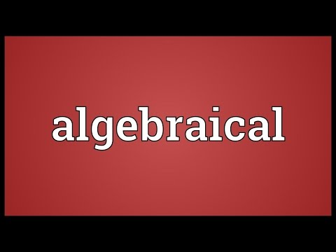 Header of algebraical