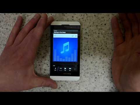 Blackberry Z10 music control