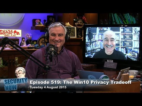 Security Now 519: The Windows 10 Privacy Tradeoff
