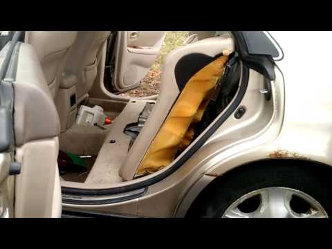 How to remove a rear bench seat on a 2000 Lexus es300