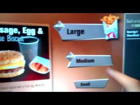 Fast Food Drive Thru Cashier Touch Food And Money