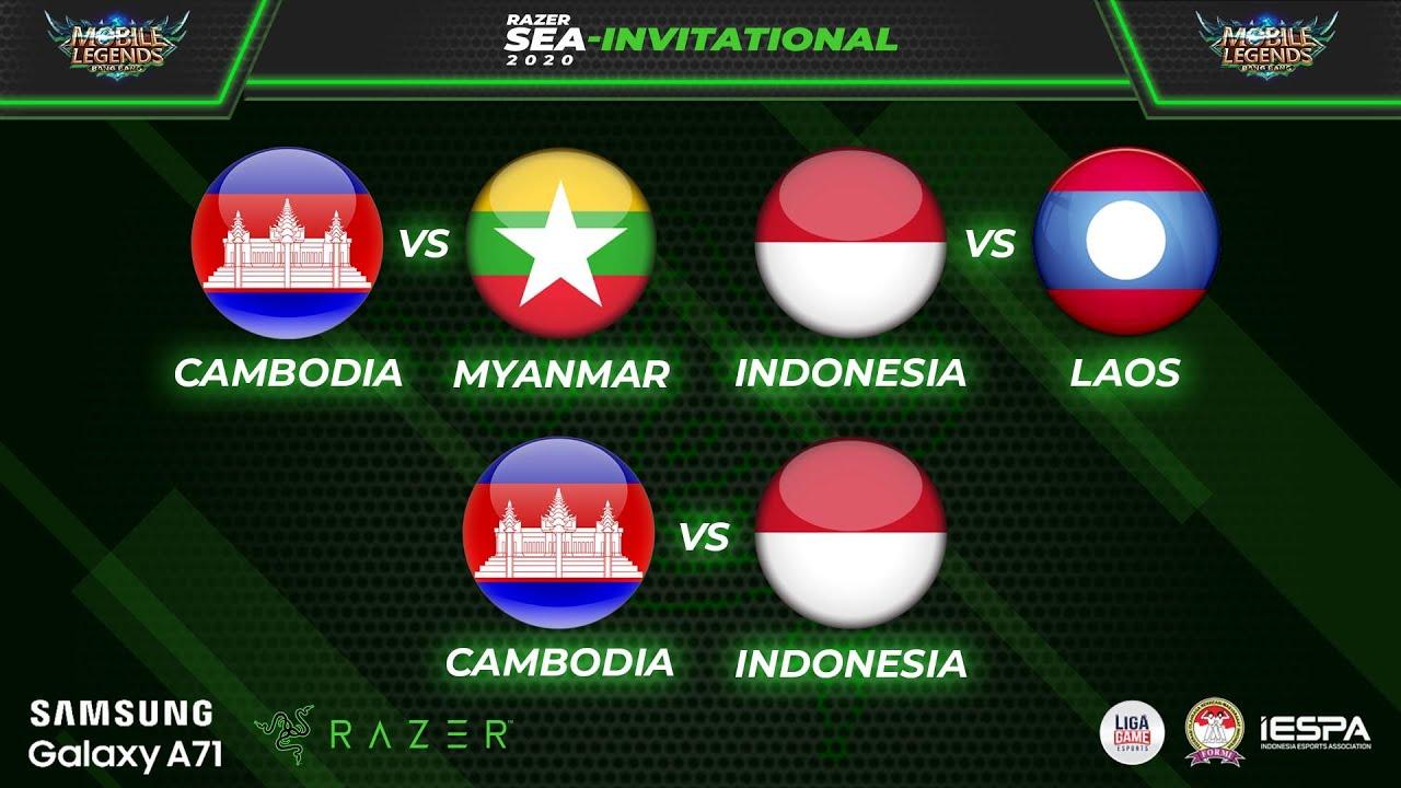 INDONESIA VS CAMBODIA @ RAZER SEA INVITATIONAL - MLBB ...