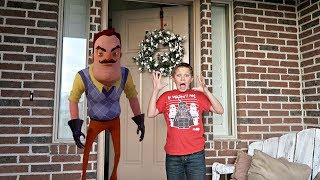 BROKE INTO A HOUSE! | Hello Neighbor in Real Life!