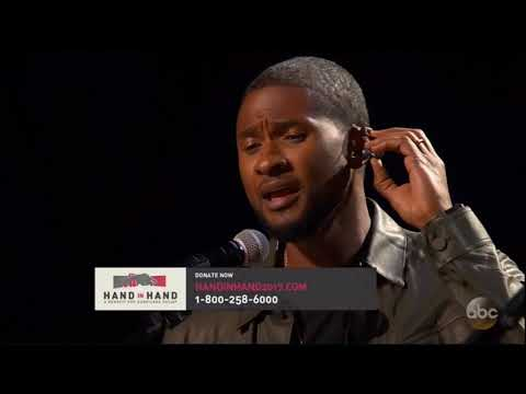 Usher & Blake Shelton Stand By Me Hurricane Relief Show