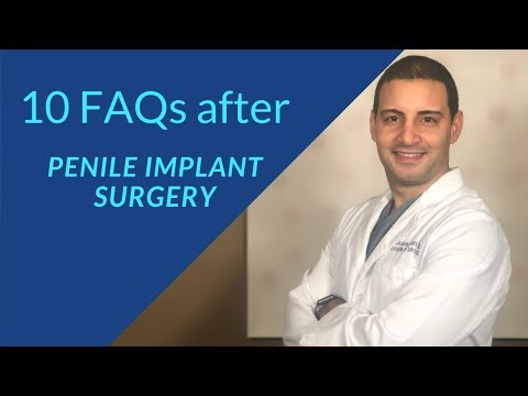 Instructions AFTER penile implant surgery