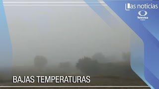 Advertencias por bajas temperaturas