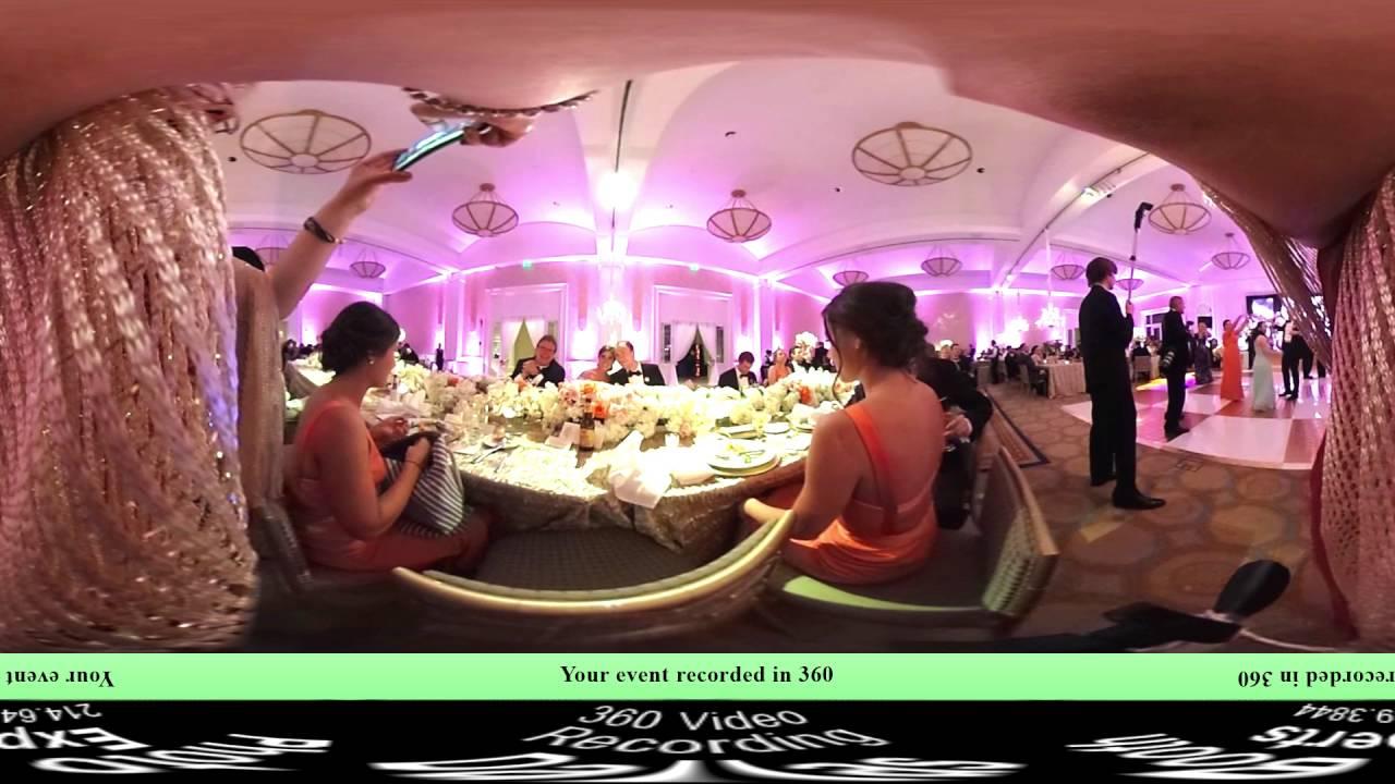 360 Video Wedding Reception Dallas Tx 360 View Youtube