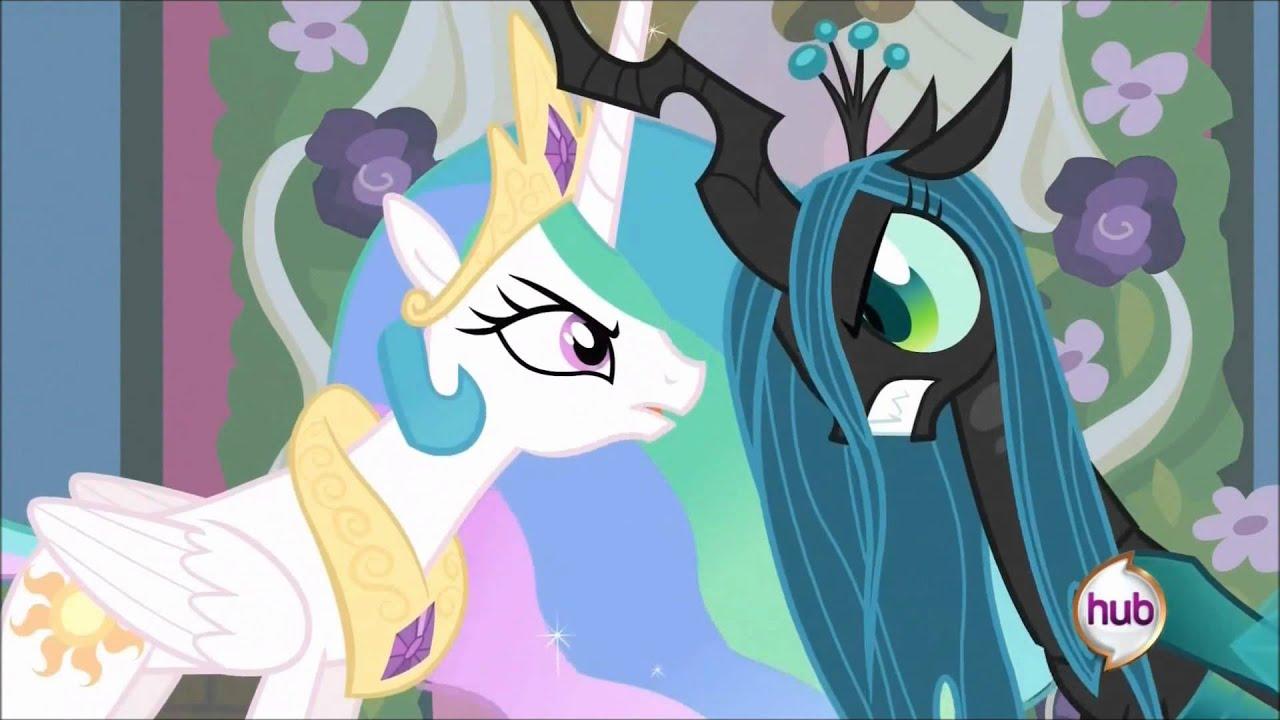 Princess Celestia Vs Queen Chrysalis
