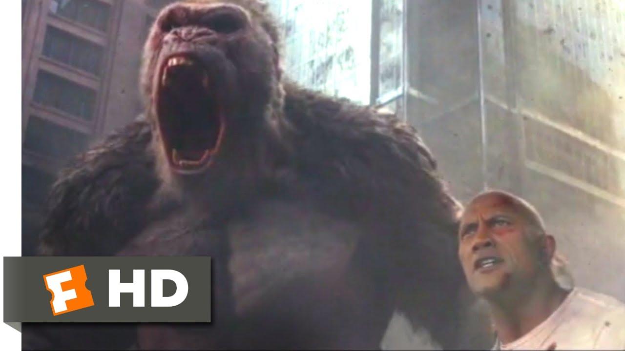 Download Rampage (2018) - Three-Way Monster Brawl Scene (8/10) | Movieclips