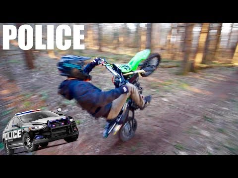 COPS COME FOR RIDING PIT BIKES... we got away