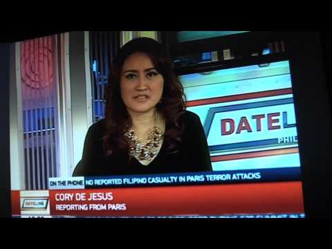Cory de Jesus-Interview with Dateline Phils -Paris attacks