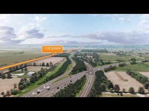 Christchurch Southern Motorway flyover - November 2016