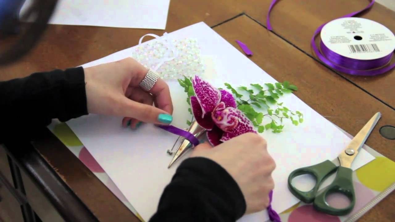 Diy How To Make A Corsage Youtube